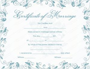 Vintage Marriage Certificate Template – (Editable in Quality Marriage Certificate Template Word 10 Designs