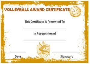 Volleyball Award Certificate | Certificate Templates, Awards with Volleyball Certificate Templates