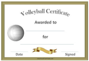 Volleyball Awards | Coaching Volleyball, Volleyball with Quality Volleyball Award Certificate Template Free