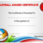 Volleyball Certificate Sample | Volleyball, Templates With Best Volleyball Participation Certificate