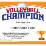 Volleyball Certificate, Volleyball Award Template, Volleyball Gifts,  Volleyball Awards, Volleyball Mom, Volleyball Sister, Volleyball Mom With Regard To Unique Volleyball Tournament Certificate