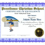 Volleyball Certificates Pertaining To Best Volleyball Participation Certificate