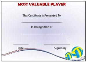 Volleyball Mvp Award Template | Award Template, Templates pertaining to New Mvp Award Certificate Templates Free Download