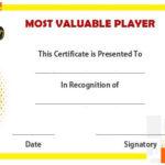 Volleyball Mvp Certificate | Award Certificates, Awards Throughout Volleyball Mvp Certificate Templates