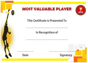 Volleyball Mvp Certificate | Award Certificates, Awards within Mvp Certificate Template