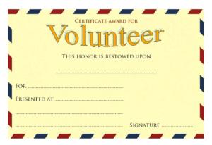 Volunteer Award Certificate Template (2) – Templates Example Regarding Best Volunteer Of The Year Certificate Template