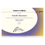 Volunteer Certificate Template – Pdf Templates | Jotform Within Best Volunteer Of The Year Certificate Template