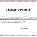 Volunteer Certificate Templates | Word Template, Certificate With Volunteer Certificate Templates