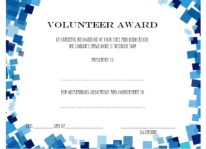 Volunteer Of The Year Certificate Template (3) – Templates regarding Best Outstanding Volunteer Certificate Template