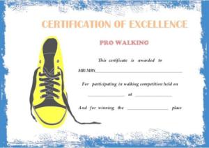 Walking Certificate Templates (10) – Templates Example regarding Walking Certificate Templates