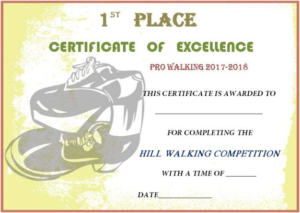 Walking Certificate Templates (3) – Templates Example regarding Walking Certificate Templates