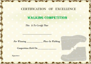 Walking Certificate Templates (5) – Templates Example regarding Walking Certificate Templates