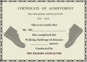 Walking Certificate Templates (7) – Templates Example for Quality Physical Fitness Certificate Template 7 Ideas
