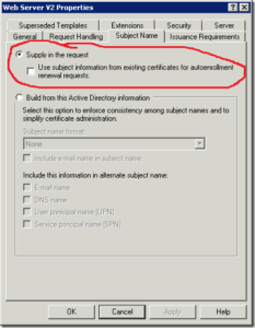 Web Server Certificate Enrollment With San Extension – Pki with Active Directory Certificate Templates