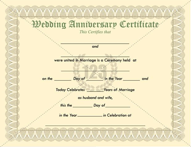 Wedding Anniversary #Certificate #Template | How To Memorize inside Anniversary Certificate Template Free
