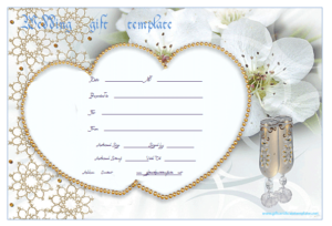 Wedding Gift Certificate Templates | Gift Certificate with regard to Free Editable Wedding Gift Certificate Template