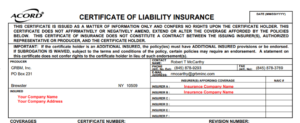 What Is A Certificate Of Insurance? And Why Is Everyone within Certificate Of Insurance Template