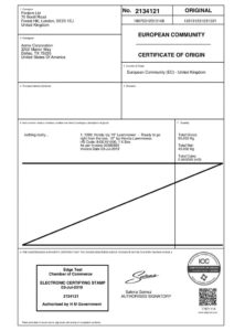 What Is A Certificate Of Origin? • Edgectp with regard to Unique Certificate Of Origin Template
