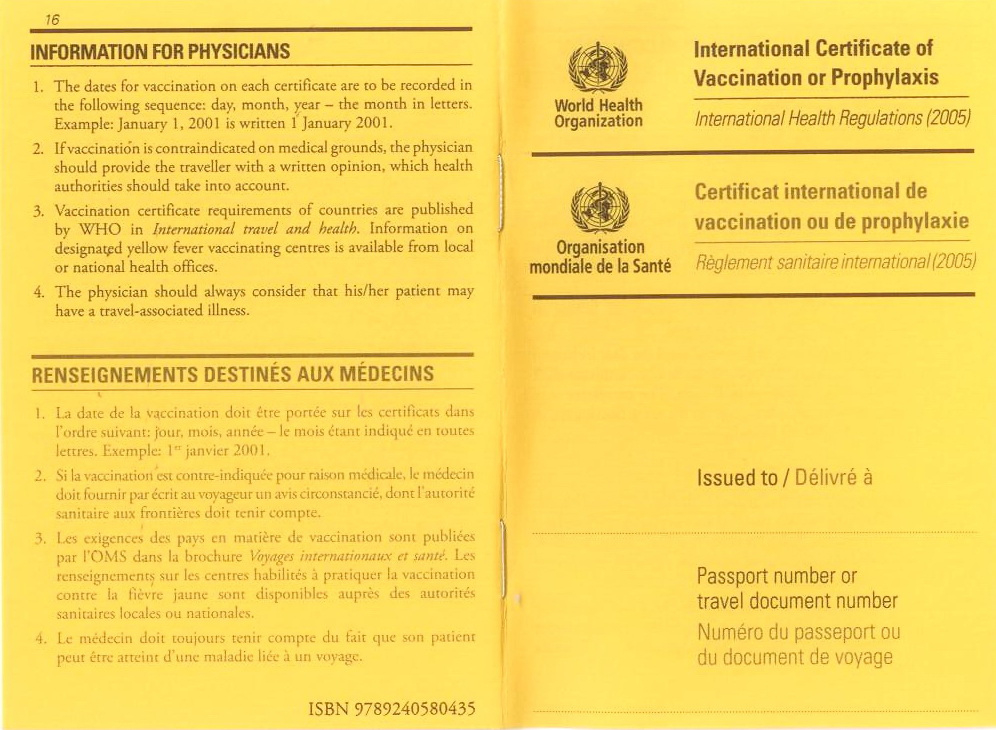 Who International Certificate Of Vaccination regarding Best Certificate Of Vaccination Template
