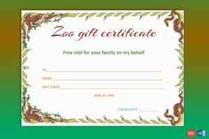 Wild Zoo Gift Certificate Template – Gct pertaining to Unique Zoo Gift Certificate Templates Free Download