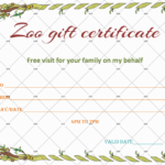 Wild Zoo Gift Certificate Template – Gct With Zoo Gift Certificate Templates Free Download