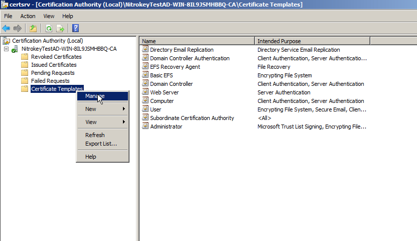 Windows Logon And S/Mime Email Encryption With Active within Fresh Active Directory Certificate Templates
