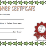 Winner Baby Shower Game Certificate Free Printable 2 | Baby Inside Baby Shower Game Winner Certificate Templates