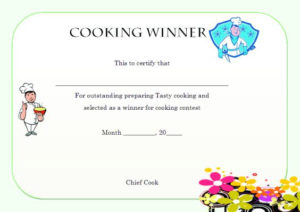 Winner Certificate Template : 40+ Word Templates [ For pertaining to Cooking Contest Winner Certificate Templates