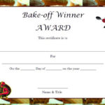 Winner Certificate Template : 40+ Word Templates [ For With Bake Off Certificate Template