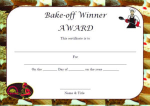 Winner Certificate Template : 40+ Word Templates [ For with regard to Bake Off Certificate Templates
