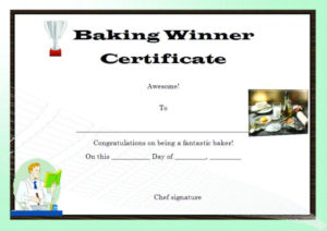 Winner Certificate Template : 40+ Word Templates [ For within New Cooking Contest Winner Certificate Templates