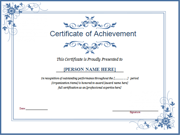 Winner Certificate Template For Ms Word | Document Hub Inside Fresh 10 Certificate Of Championship Template Designs Free