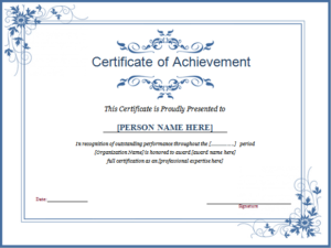 Winner Certificate Template For Ms Word | Document Hub within New Winner Certificate Template