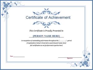 Winner Certificate Template For Ms Word   Document Hub within Winner Certificate Template Ideas Free