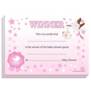 Winner Certificates – Baby Shower Party Games Prize, 10/20 intended for Best Baby Shower Winner Certificates