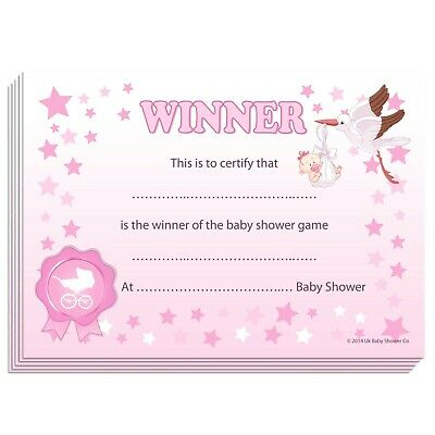 Winner Certificates - Baby Shower Party Games Prize, 10/20 intended for Best Baby Shower Winner Certificates