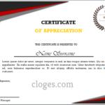 Word Certificate Of Appreciation Template In Template For Certificate Of Appreciation In Microsoft Word