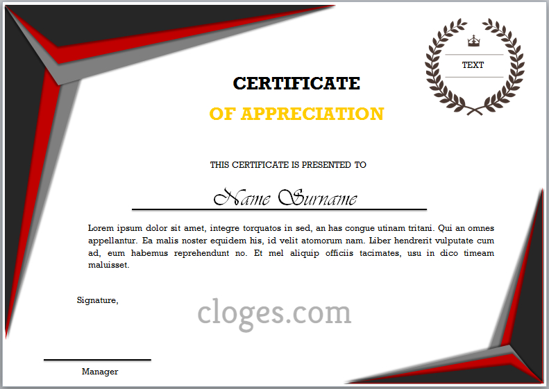 Word Certificate Of Appreciation Template With Best Certificate Of Appreciation Template Word