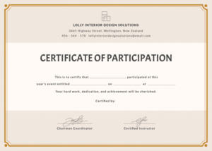 Workshop Certificate Template New Training Participation throughout Best Certificate Of Participation Template Doc 10 Ideas