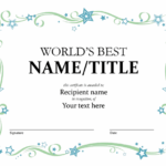 World'S Best Award Certificate Throughout Fresh 10 Certificate Of Championship Template Designs Free