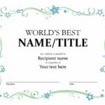 World'S Best Award Certificate with regard to Best 9 Worlds Best Mom Certificate Templates Free