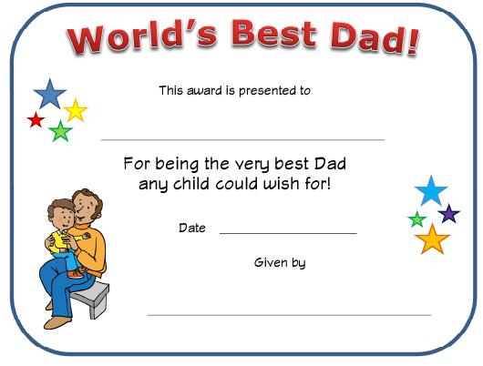 World'S Best Dad Certificate Template Download Printable Pdf inside Fresh Best Dad Certificate Template