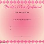 World'S Best Girlfriend Certificate Template Download Regarding Quality Best Girlfriend Certificate Template