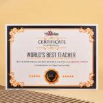 Worlds Best Teacher Certificate With Regard To Best Teacher Certificate