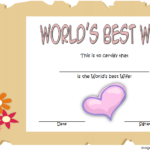 World'S Best Wife Certificate Template Free 2 | Good Wife With Fresh Best Wife Certificate Template