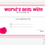 World'S Best Wife Certificate With Red Rose – World'S Best With Regard To Fresh Best Wife Certificate Template