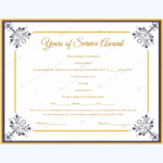 Years Of Service Award 03 – Word Layouts   Certificate Of Pertaining To 9 Worlds Best Mom Certificate Templates Free