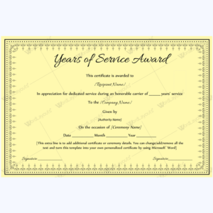 Years Of Service Award 08 – Word Layouts | Awards with regard to Years Of Service Certificate Template Free 11 Ideas