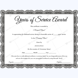 Years Of Service Award 09 – Word Layouts | Awards pertaining to Fresh Certificate For Years Of Service Template