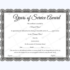 Years Of Service Award Templates | Certificate Templates with regard to Best Long Service Award Certificate Templates
